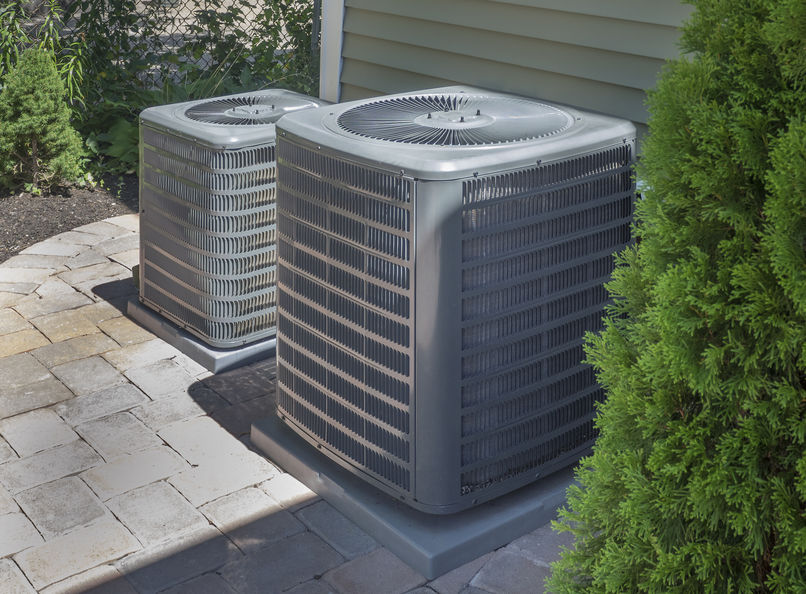 outside HVAC units